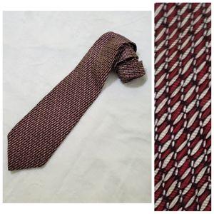 "Chez Roffe NY 100% Silk Red Black Long Tie 4""x60"""